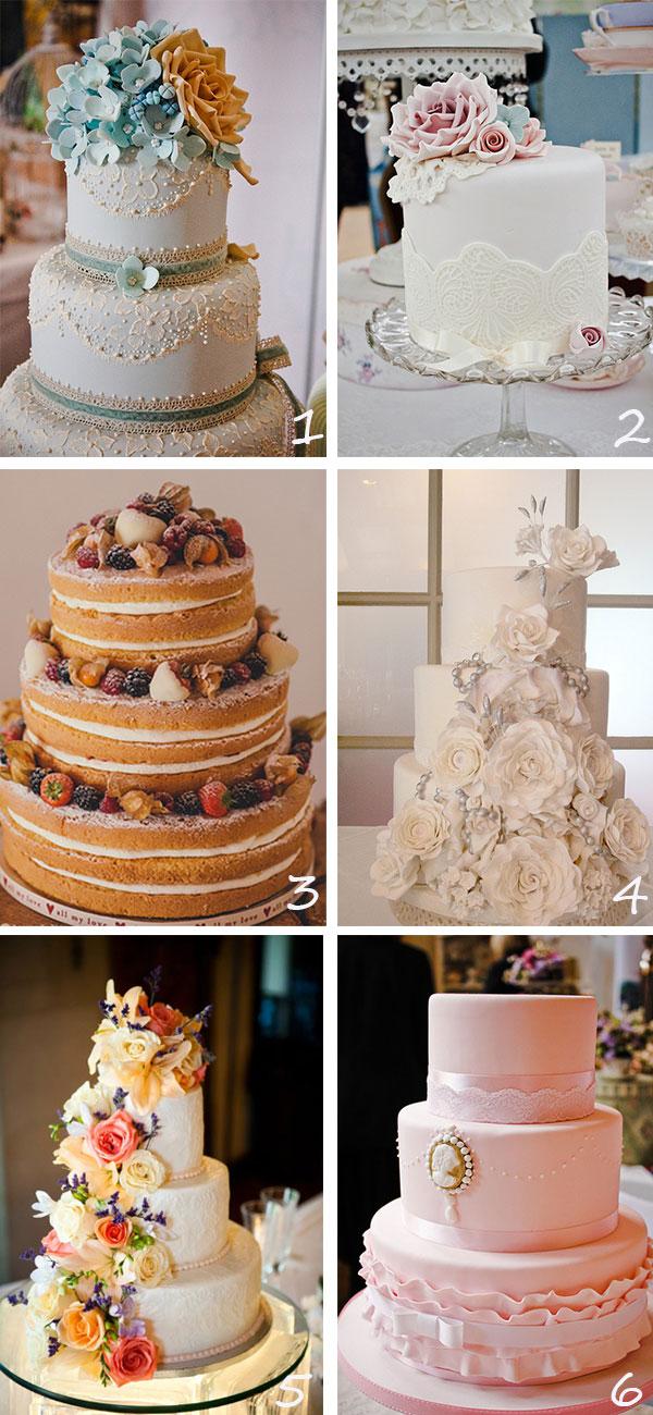 Tortas Para Matrimonio Rustico : Inspiración tortas al estilo vintage bodas y novios