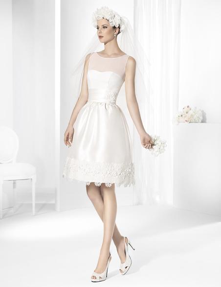 Vestidos de novia clasicos cortos