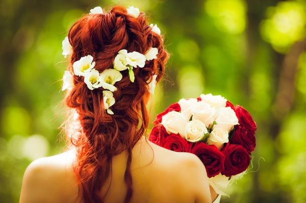 peinado novia boho